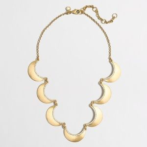 J. Crew Crystal-lined Scallop Necklace